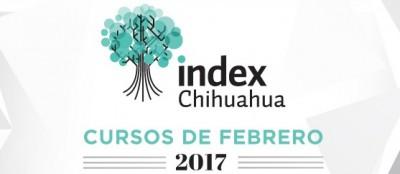 Te presentamos los cursos que se estarán brindando en este mes de Febrero. Mas informes: Área de Capacitación -Lic. Elsa Torres  etorres@indexchihuahua.org.mx