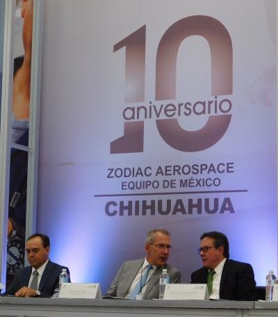 Zodiac Aerospace empresa de origen Francés y siendo una de las más antiguas en el mundo en el ramo manufacturero aeroespacial, comenzó su actividad en la ciudad de Chihuahua con la producción de los sistemas de evacuación de emergencia, como tobogane