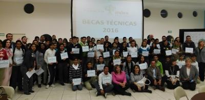La entrega de 2,679,000 pesos en  becas de sostenimiento escolar  por parte de la Fundación hacia estos  alumnos de carreras técnicas.